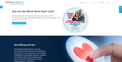 Orphanhealthcare Webseite