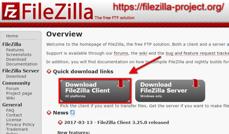 WordPress Installieren 1. Schritt: FTP Programm downloaden und installieren