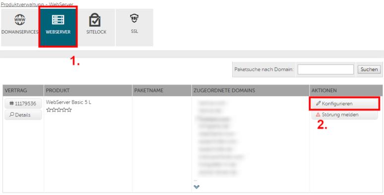 HostEurope Webserver Verwaltung