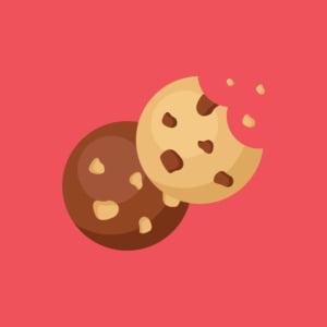 Zwei Kekse. Cookie ist englisch und heisst Keks.
