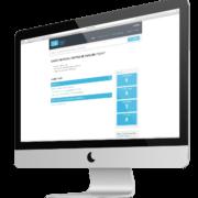 SESA Kundenportal Startseite auf Monitor