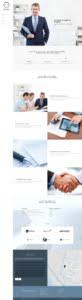 Demo Webseite mit dem Menü links und vielen Bildern zur Präsentation einer Firma