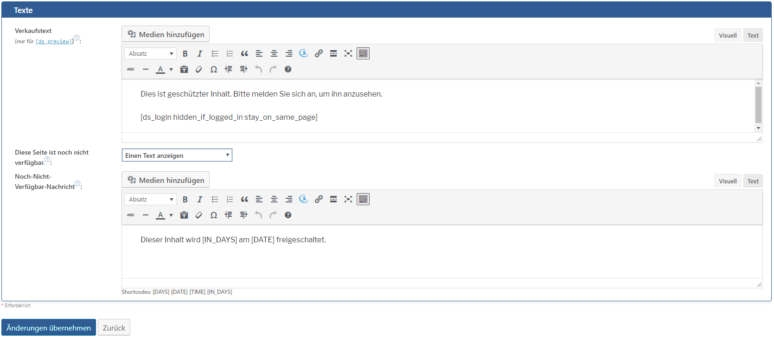 WordPress Mitgliederbereich erstellen Schritt 2.5
