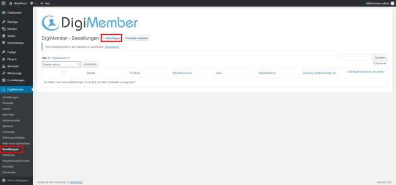 WordPress Mitgliederbereich erstellen Schritt 4.1