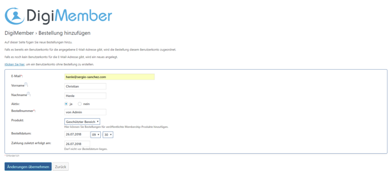 WordPress Mitgliederbereich erstellen Schritt 4.2