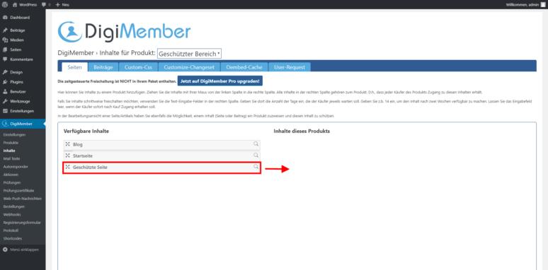 WordPress Mitgliederbereich erstellen Schritt 3